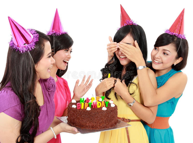 Birthday surprise stock photos