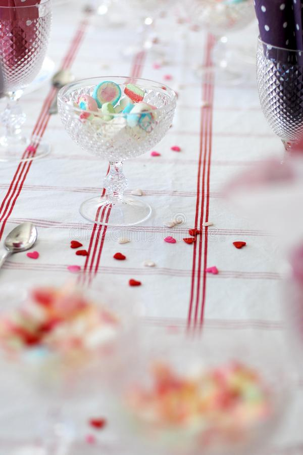 Birthday table. stock photos