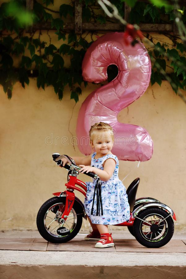 Birthday of toddler girl royalty free stock photography