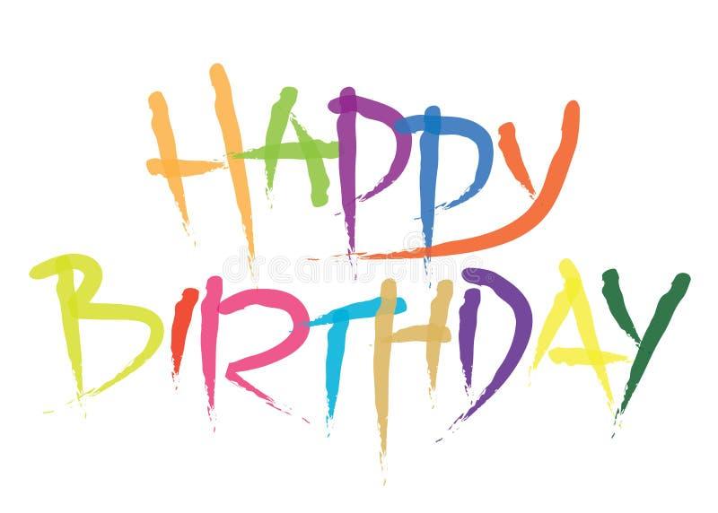 birthday20 ευτυχής ελεύθερη απεικόνιση δικαιώματος