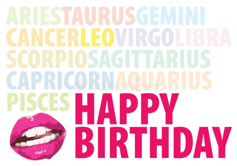 birthday56 szczęśliwy ilustracja wektor
