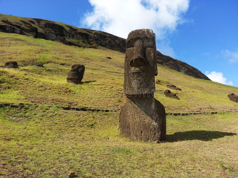 Birthplace of the Moai royalty free stock images
