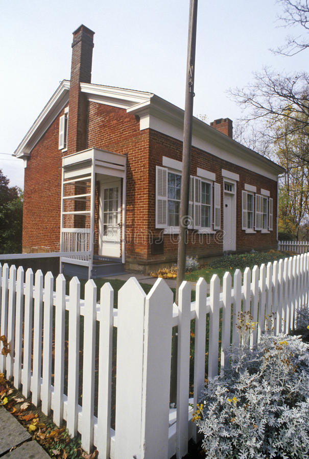 Birthplace of Thomas Alva Edison in Milan, OH stock images