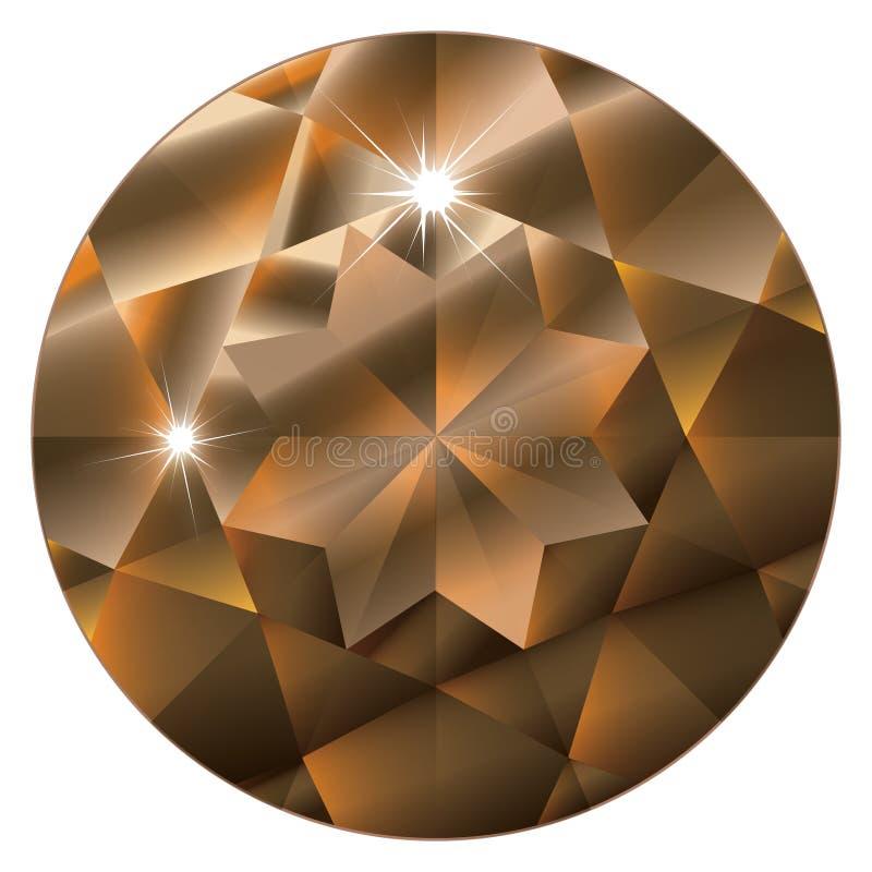 birthstone Νοέμβριος topaz διανυσματική απεικόνιση