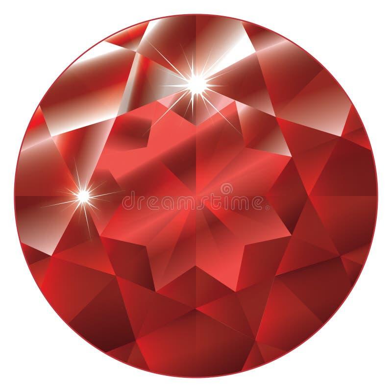 birthstone ruby Lipca royalty ilustracja