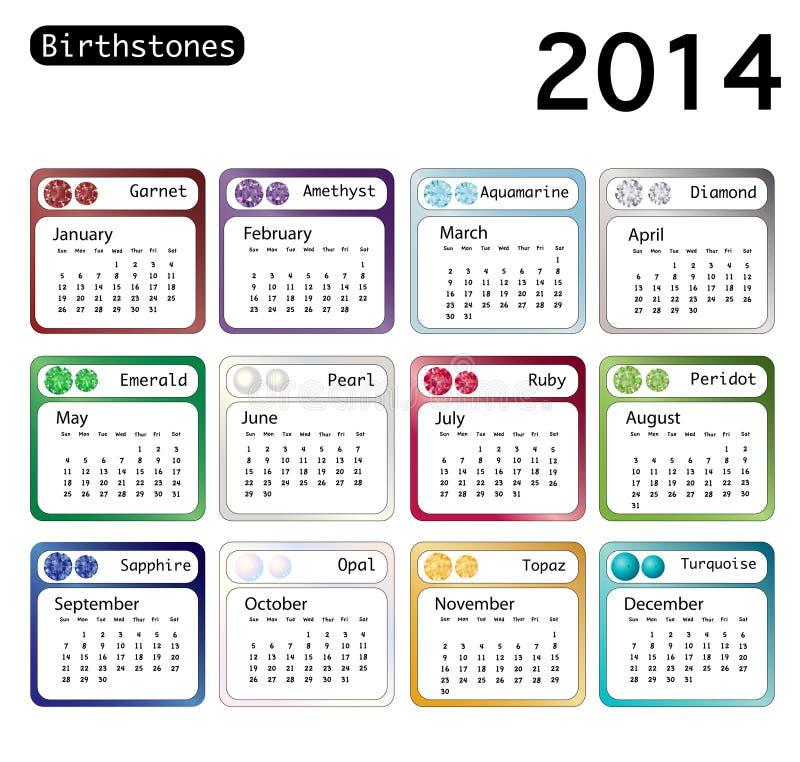 Birthstonekalender 2014
