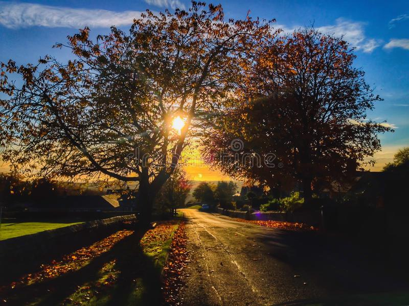 Birtleydorp in Northumberland, Engeland stock afbeelding