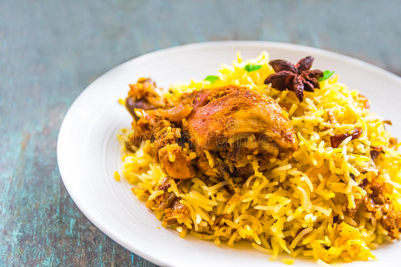 Biryani κοτόπουλου στοκ εικόνες με δικαίωμα ελεύθερης χρήσης