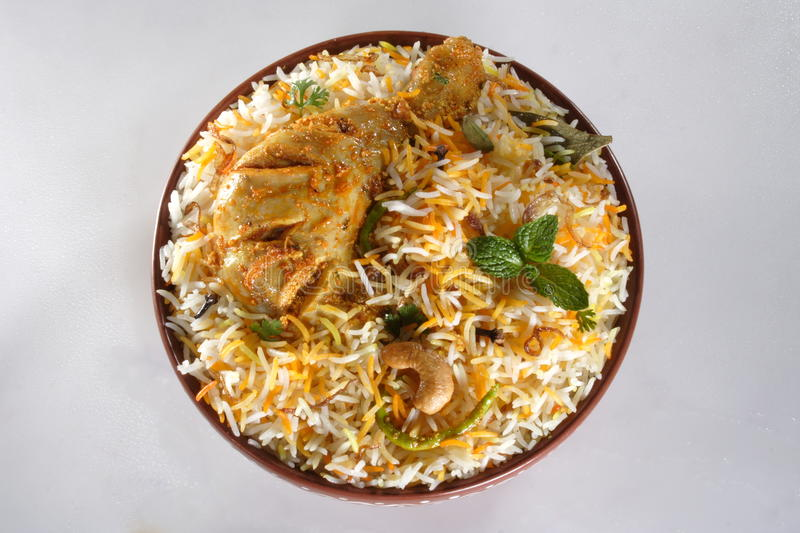 Biryani de poulet photo stock