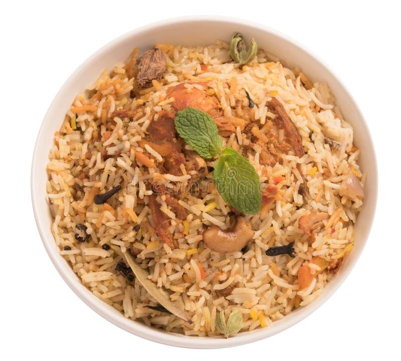 Biryani delicioso da galinha imagem de stock royalty free