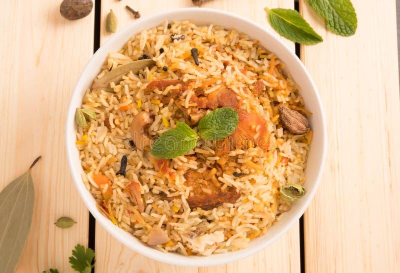 Biryani delicioso saboroso da galinha fotos de stock royalty free