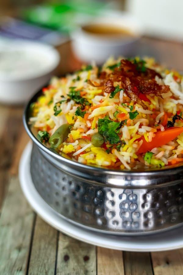 Biryani di verdure - Haidarabad speciali immagini stock