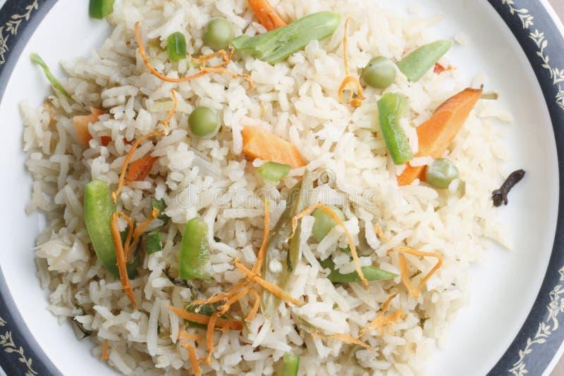 Biryani di verdure - un piatto indiano popolare del veg fotografie stock libere da diritti