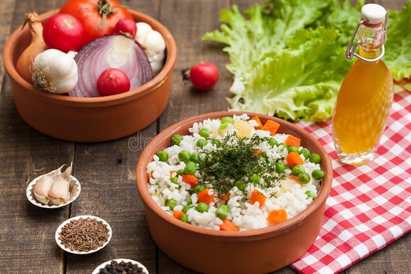 Biryani indiano del veg, pulav del veg immagini stock libere da diritti