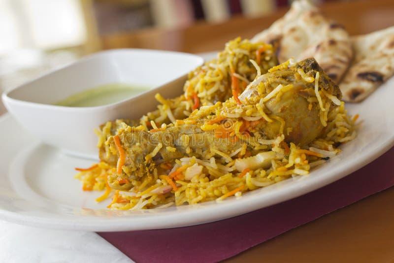 Biryani indien de poulet images stock