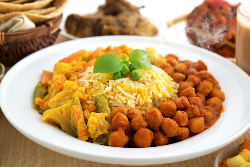 Biryani rice or briyani rice. Fresh cooked with steam, delicious indian food royalty free stock images