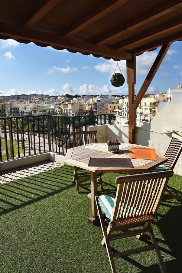 BIRZEBUGGA, Malta, Panoramablick des Dorfs stockbild