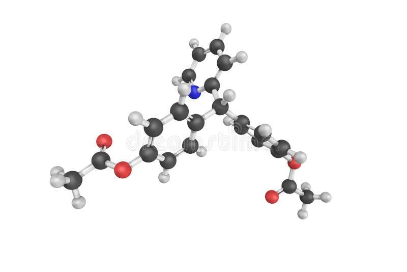 Bisacodyl, een organische verbinding als laxerende drug wordt gebruikt die Het werkt stock foto's