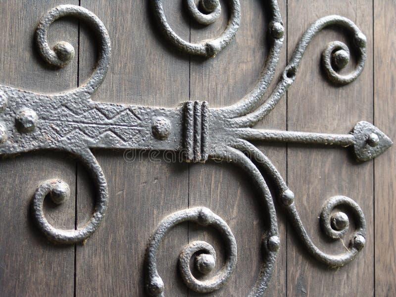 Bisagra de puerta antigua imagenes de archivo