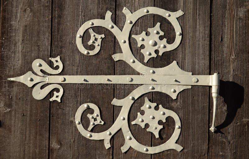 Bisagra de puerta ornamental fotografía de archivo