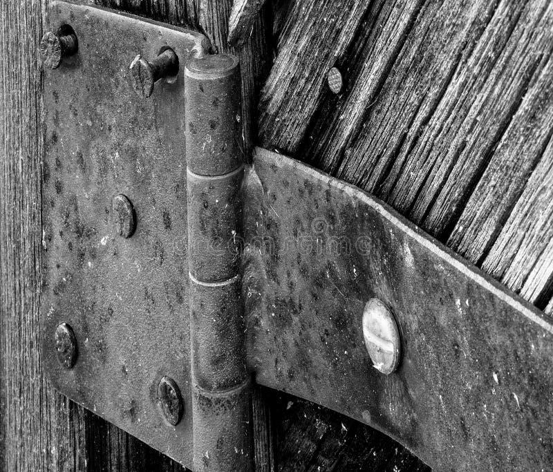 Bisagra de puerta vieja fotografía de archivo