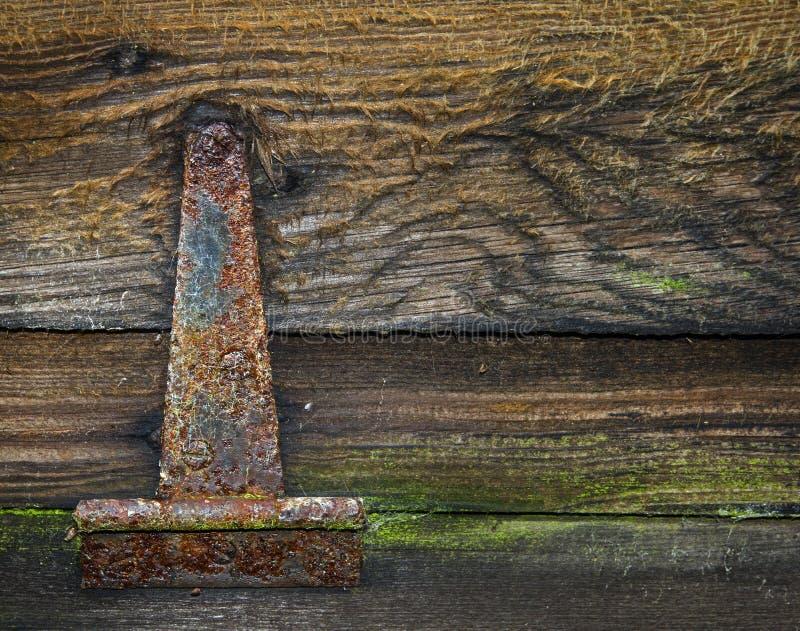 Bisagra vieja oxidada foto de archivo libre de regalías