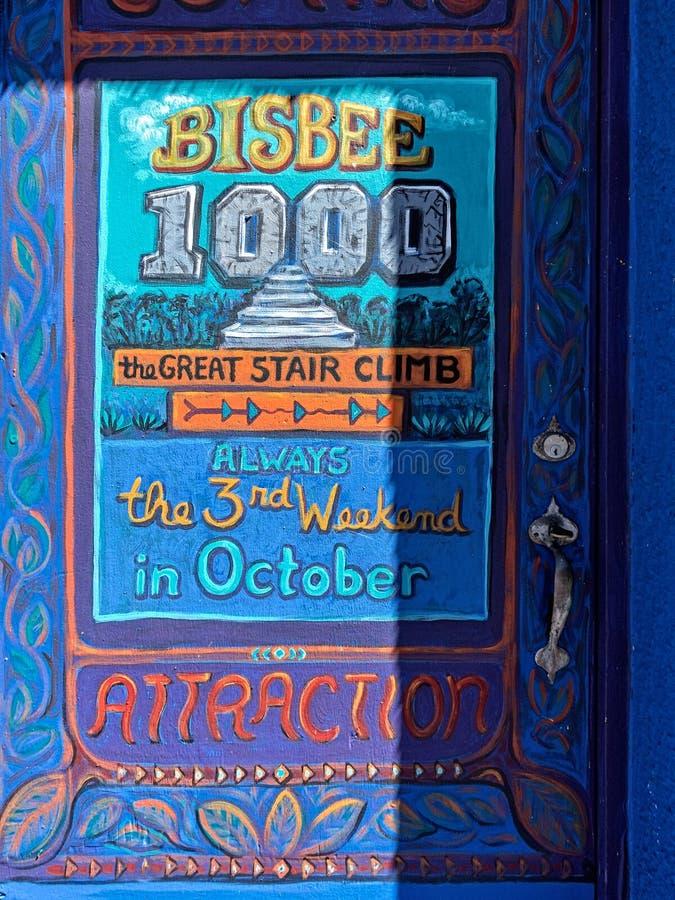 Bisbee, Arizona, grote trede beklimt royalty-vrije stock foto's