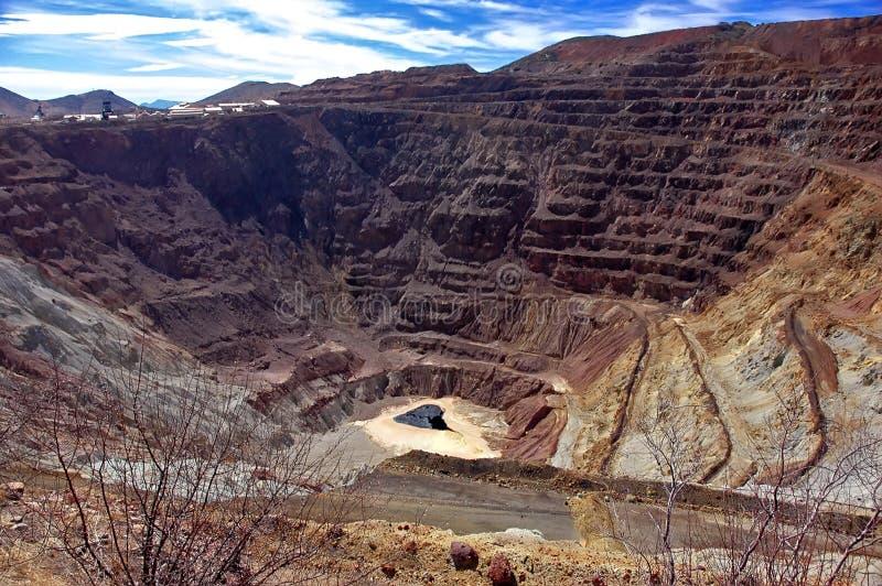 Bisbee Streifen-Grube, Arizona lizenzfreie stockbilder