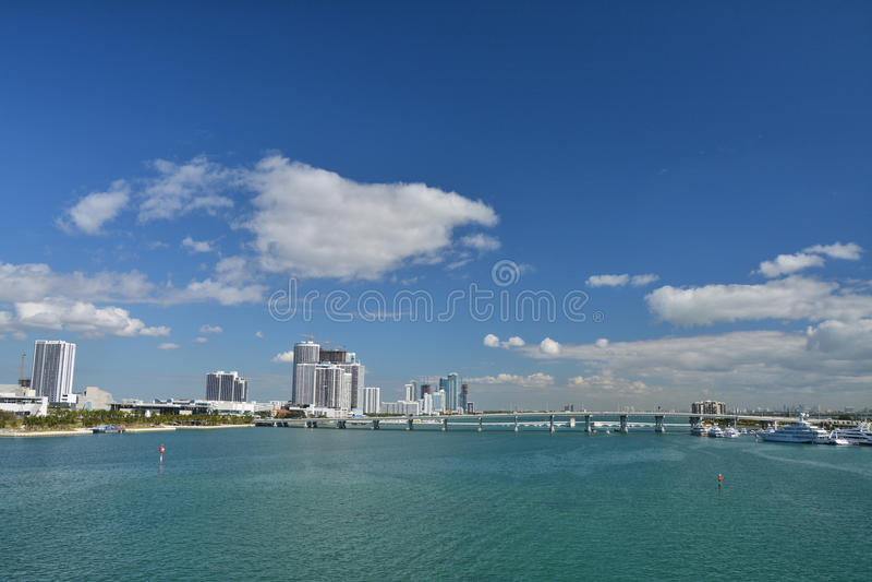 Biscane海湾迈阿密 免版税图库摄影