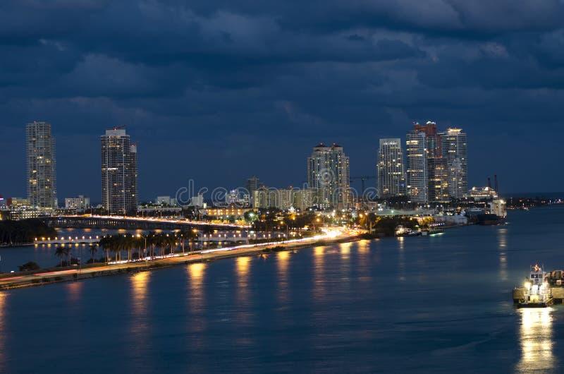Biscayne fjärd i Miami Florida arkivfoton
