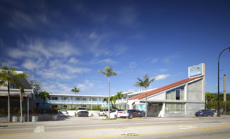 Biscayne-Gasthaus-Motel stockbild