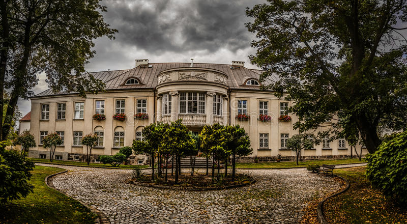 Bischofs-Palast in Lomza, Polen stockfoto