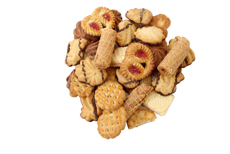 biscoito assorted imagens de stock royalty free