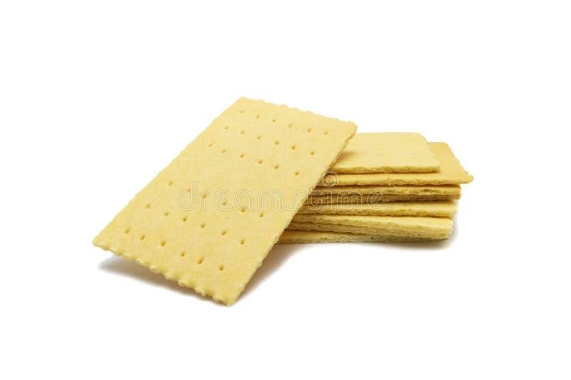 Biscoito da agitação do queijo isolado no fundo branco fotos de stock royalty free