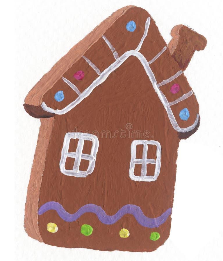 Biscoito da casa de pão-de-espécie ilustração do vetor