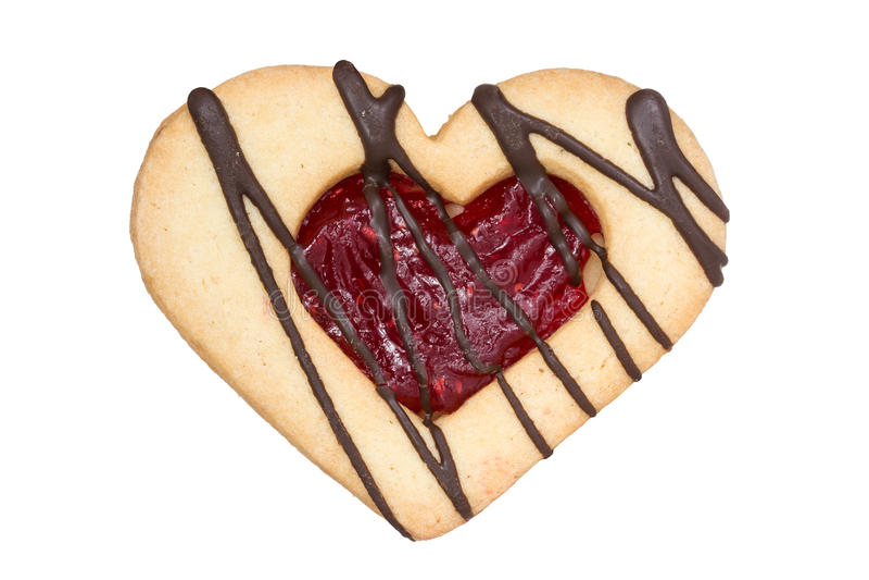 Biscoito dado forma coração fotografia de stock royalty free