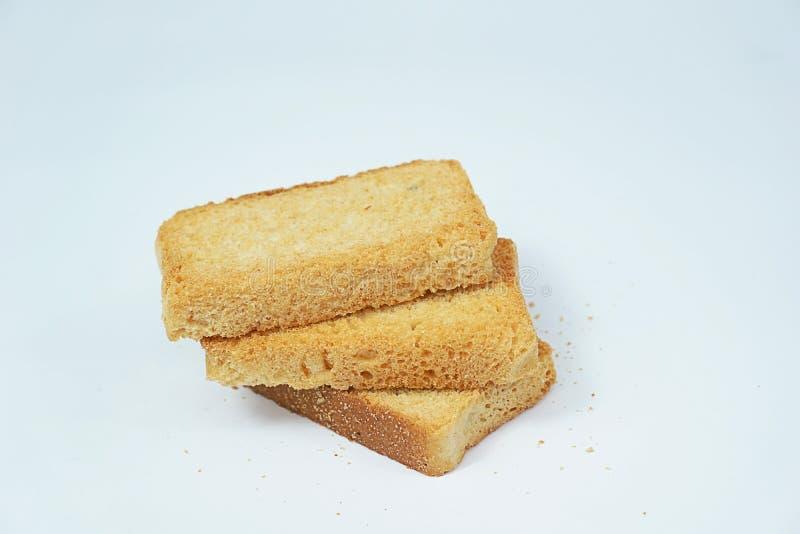 Biscoito de Brown isolado no fundo branco fotografia de stock royalty free