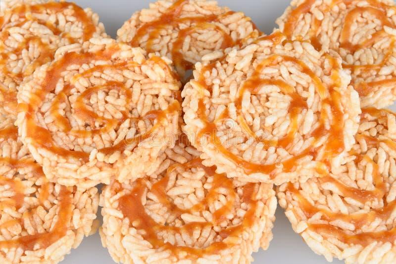 Biscoito do arroz com imagem de stock royalty free