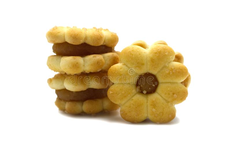 Biscoito dos biscoitos caseiro Doce e doce do abacaxi flavored Projeto das flores fotos de stock royalty free