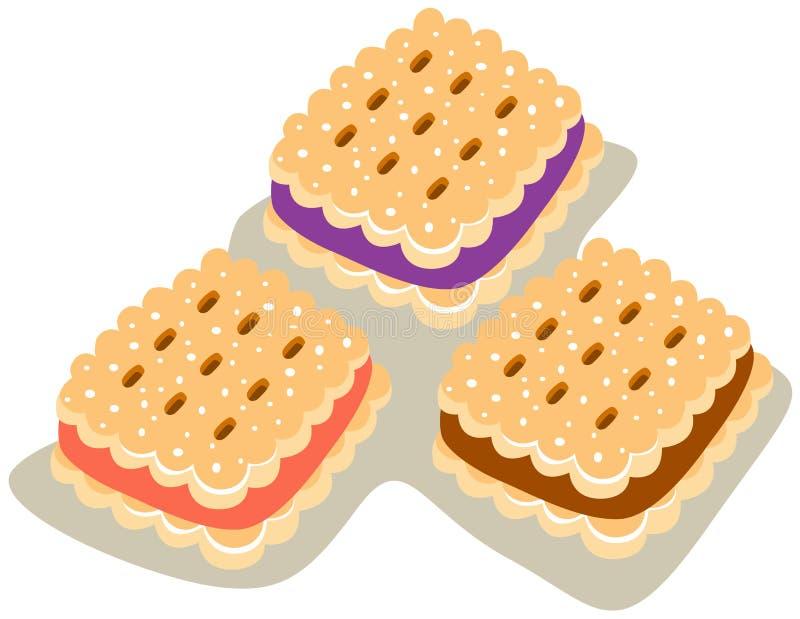 Biscoitos ilustração royalty free