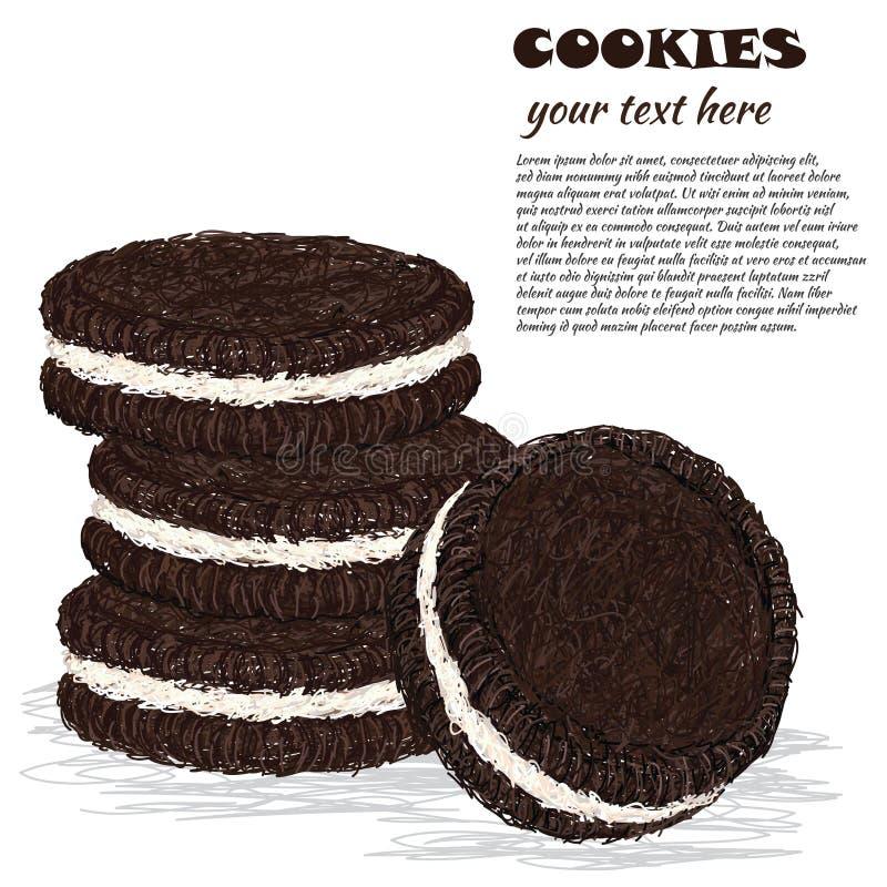 Biscoitos ilustração stock