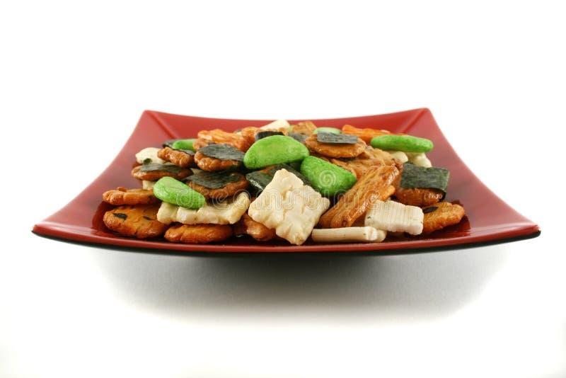 Biscoitos asiáticos 5 do arroz imagens de stock