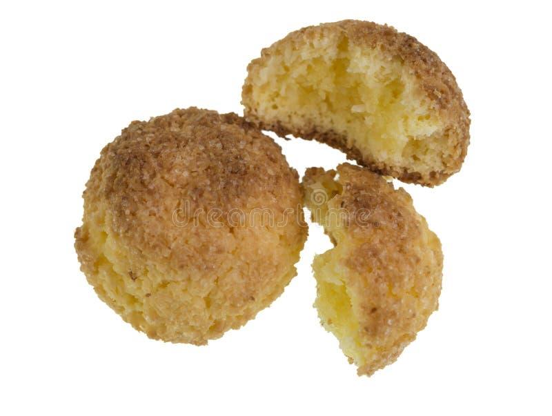 Biscoitos caseiros do coco foto de stock