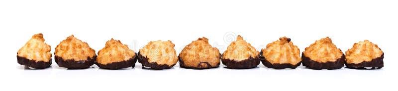 Biscoitos com chocolate fotografia de stock