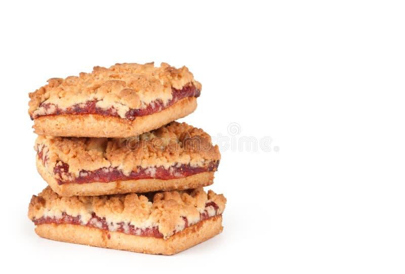 Biscoitos com doce fotos de stock