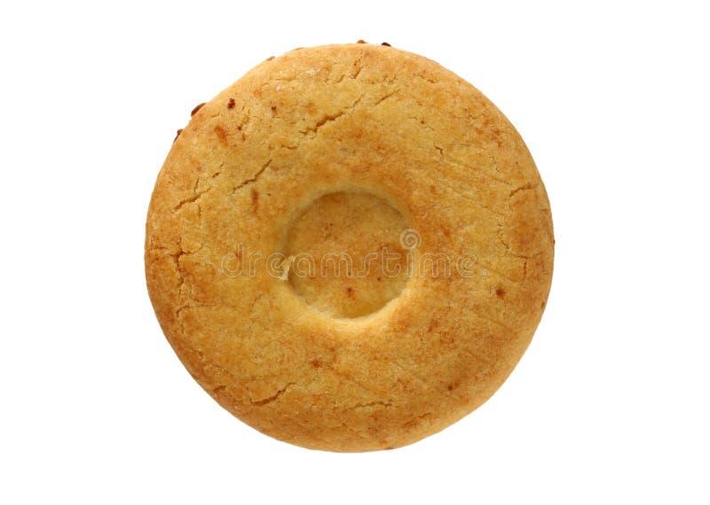 Biscoitos com farinha do inteiro-trigo Crocante, gr?es fotografia de stock royalty free