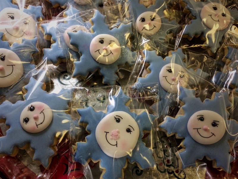 Biscoitos com flocos de neve imagem de stock