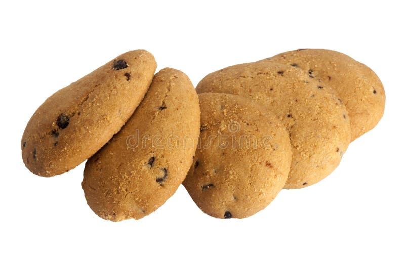 Biscoitos com gotas de chocolate imagens de stock royalty free