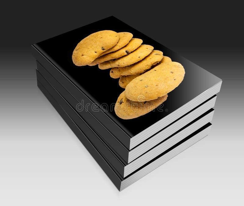 Biscoitos com gotas de chocolate ilustração stock