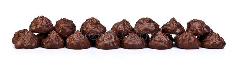 Biscoitos com limpeza completa do chocolate imagens de stock